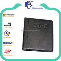 a6 leather ring binder portfolio file folder