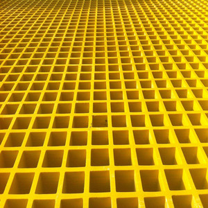 high quality FRP molded Grating with Fiberglass Reinforced Polyester Corrugated Sheet
