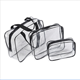 2016 new design Transparent PVC witn black tipping Storage Bag Cosmetic bag
