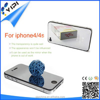 High Clear 3M Removable!!! Gold Mirror Screen Protectors For Iphone 4, Waterproof Screen Protector With Design/