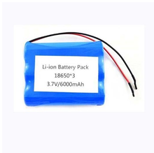 Cheap price 3.7V 6000mah 18650 rechargeable lithium ion battery pack for LED power tools