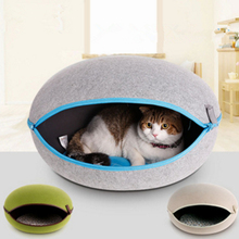 Professional manufacture cheap felt cat house dog cave bed house