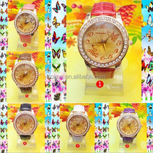 Top selling watches,lady watch with butterfly edge surface