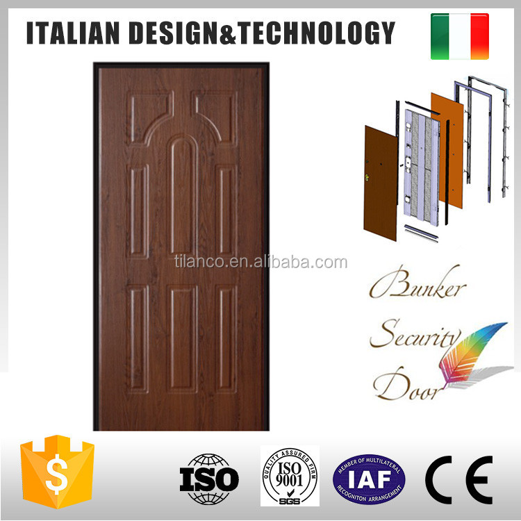 China Supplier lowes exterior steel wood doors