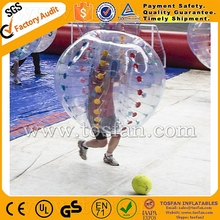 crazy sport inflatable bubble ball with 0.8mm tpu for outdoor TB260
