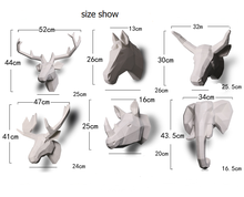 Sculpture Product Type and Home Decoration Use wall mounted resin deer head