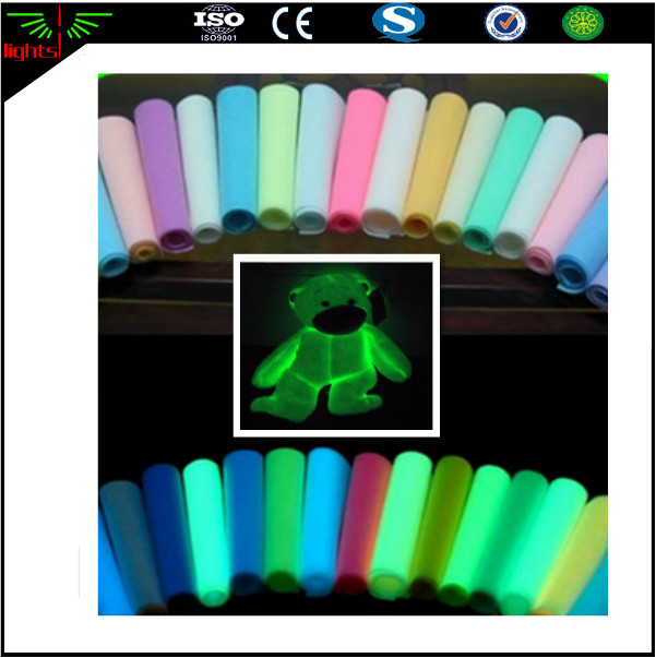high glow in the dark colorful cotton / spandex fabric for making wedding dress
