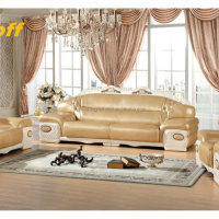 Simple European Style Sofa Ivory Genuine