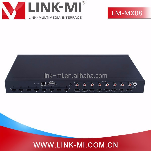 LINK-MI LM-MX08 hdmi 8X8 Matrix Auido Video HDMI 2.0& HDCP 2.2 Matrix and switcher 4K@60hz YUV4:2:0 made in China