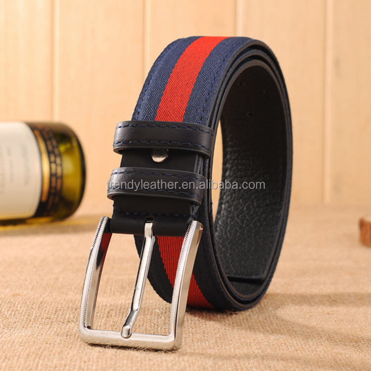 2016 cheap fashion canvas belt for men, Fabric Belts Wholesale