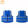 high visibility reflective roadway safety vest for men
