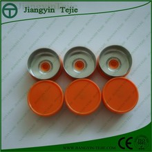 Pharmaceutical glass vial with flip off cap/seal/lids/cover