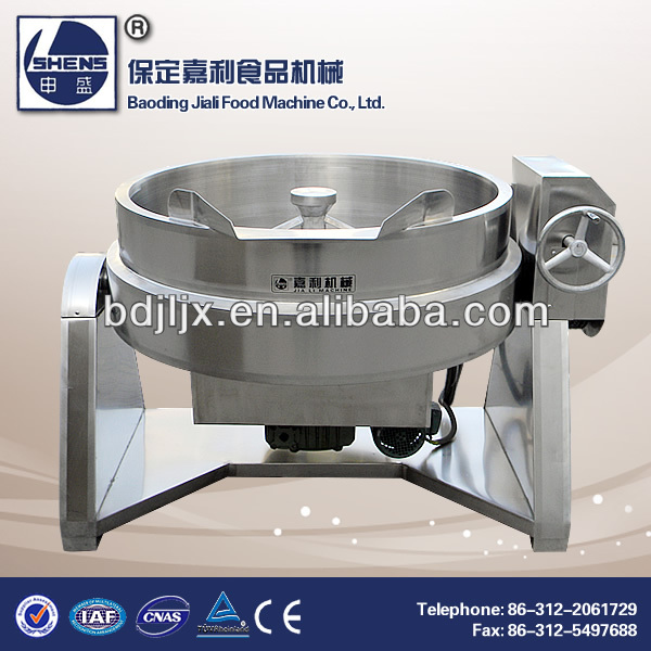 Industrial electric heat automatic cooking pot with mixer