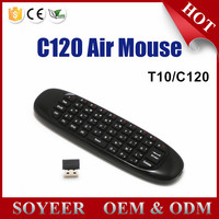 Soyeer C120 Remote Control Wooden Keyboard T10 Wireless Keybaord