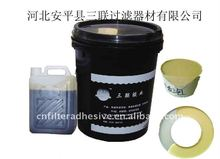 two parts curing polyurethane adhesive for filters