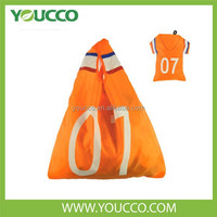 Folding Clothing Shaped Bags for Shopping Soccer promotional shopper bag