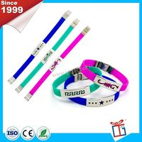 Multi colors nice custom metal silicone band