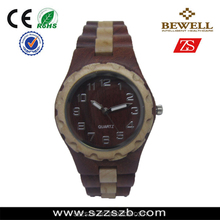 hot sale fitness and high quality BEWELL wooden watch by handmade