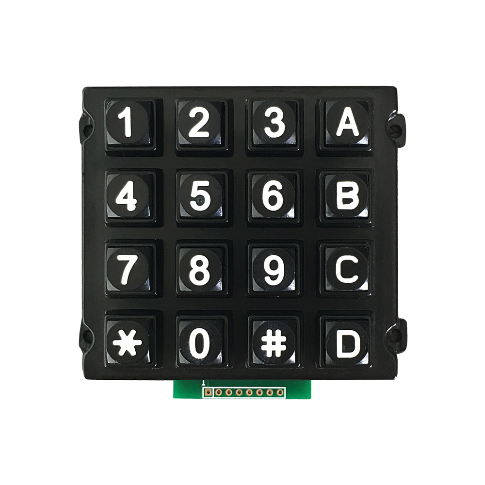 Metal numeric 4x4 datasheet keypad with rear panel mounting