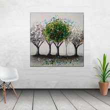 modern abstract painting handmade canvas wall art oil painting og gree trees