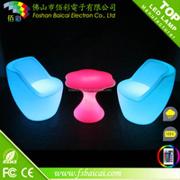Hot Sale Light illuminated chair Led Furniture modern Outdoor and Rechargeable Glow Table LED Outdoor lamp