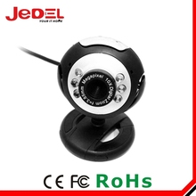 usb webcam with 6 led light , high quality mini pc camera