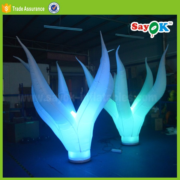 Attrative hot sale decoration inflatable led seaweed for wedding party