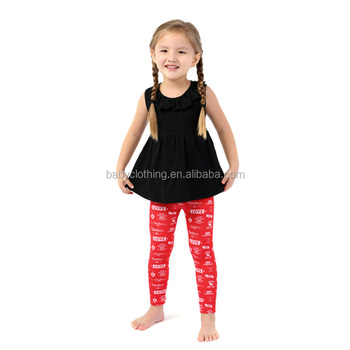 Best selling product sleeveless summer toddler baby clothes summer boutique outfits