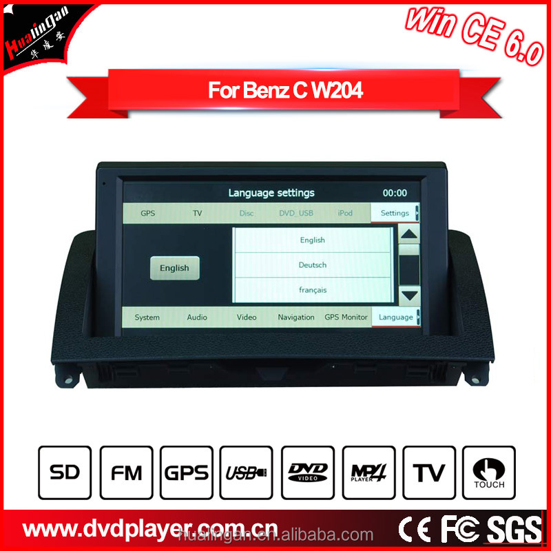 hla 8810 car gps win ce 6.0 gps car tracker 7 inch Fits for Mercedes-Ben z C W204 (2007-2011)