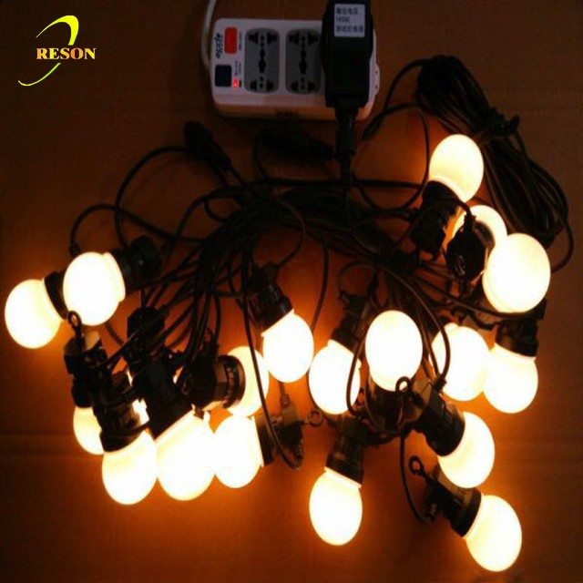 2017 outdoor Christmas ornament hang large ball string light with 50mm bulb