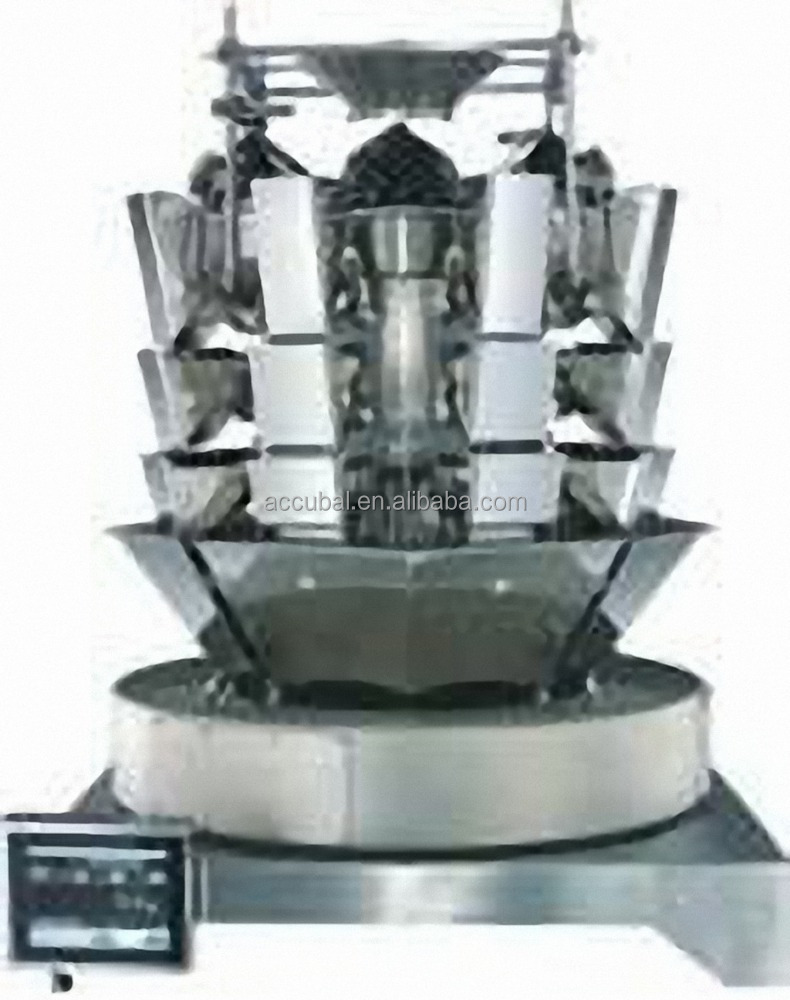 8 head multihead weigher machine weighing automatic confections weighing and packing machine