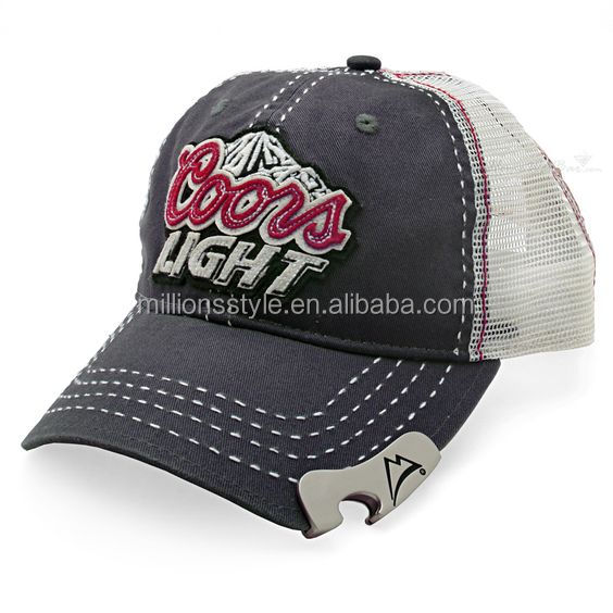 Wholesale bottle opener baseball cap/hat with custom embroideried Logo