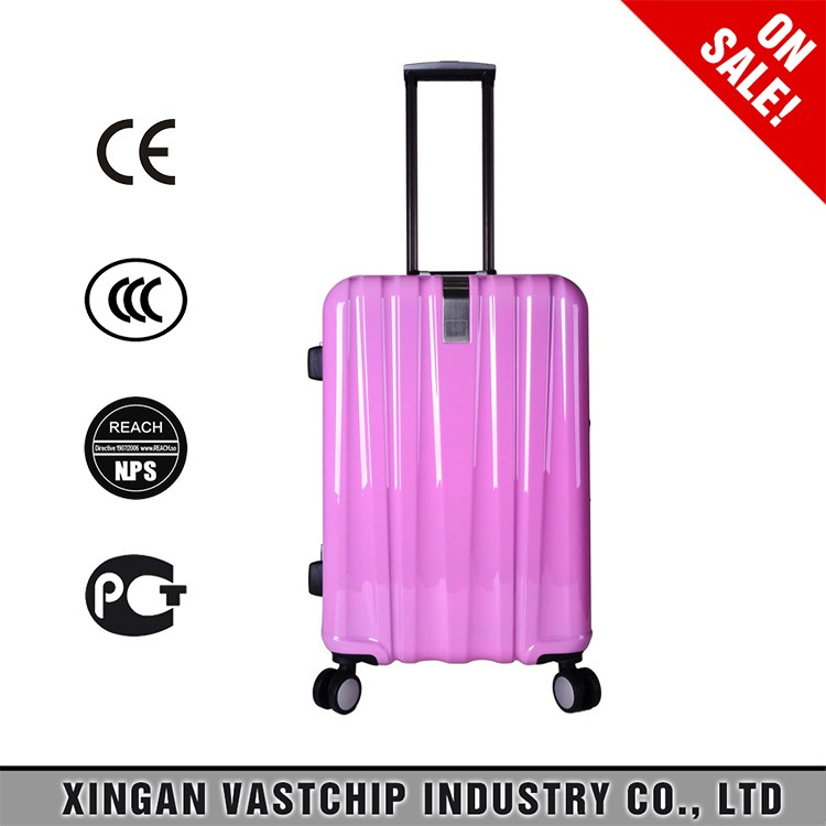 2016 Factory Hot Sale Hard Shell abs pc film trolley luggage/trolley case/suitcase 20 inch