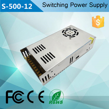 S-500w single output 5v 12v 15v 24v 36v 48v 500w 40a dc smps led switching power supply