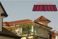 Natural color stone coated metal roof tile/roofing material