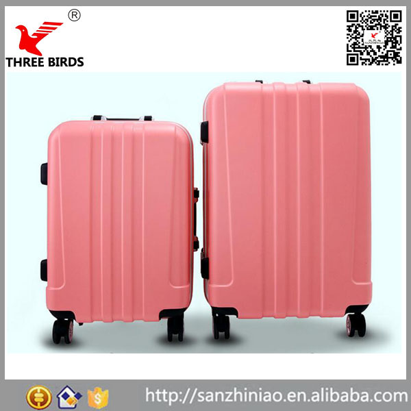 Baigou PC ABS scooter 20inch tas aluminium soft handle retro trolley suitcase luggage parts in Alibaba China factory