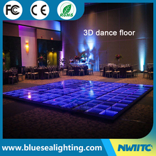 Dj disco portable panel tile toughened glass light up 3d led dance floor