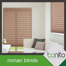 BonitoDeco Taiwan Custom Size Roman Fire Retardant Blinds for Sale