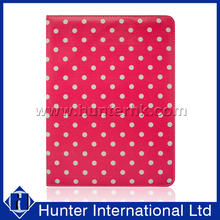 Polka Dots Red / White Tablet Case For 10 Inch