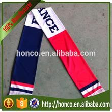 Cheapest French satin scarf for football fans Europe cup