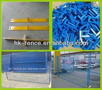 2013 Popular Canada type color design blue outdoor fence temporary fence/portable fence(manufacture) ISO9001