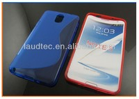 New coming Product S Line Wave TPU Gel Case Cover for Samsung Note 3 New , Soft TPU Case for Samsung Note3
