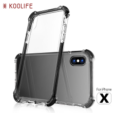 New products shock proof mobile phone PC TPU crystal clear case For Iphone X Case