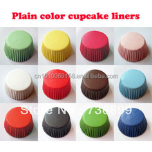 Plain Yellow Single Color Greaseproof Paper Cupcake Liners Muffin Cases Baking Cups For Girls