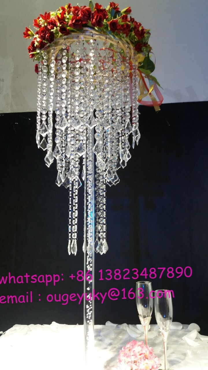 Best selling clear acrylic chandelier flower stand wedding for Buy wedding centerpieces