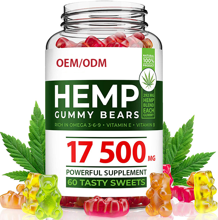100% natural hemp gummy bears rich in OMEGA 3-6-9 vitamin B E reduce anxiety