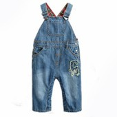 Lovely girls clothes sleeveless flower suspender trousers baby girl overall