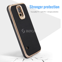 Ultra slim Motomo Brushed tpu and pc hard shell Case for Samsung Galaxy J7 J7008 steel hard back
