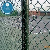 3ft/6ft height 2 inch Black vinyl coated chain link fence (Guangzhou Factory)