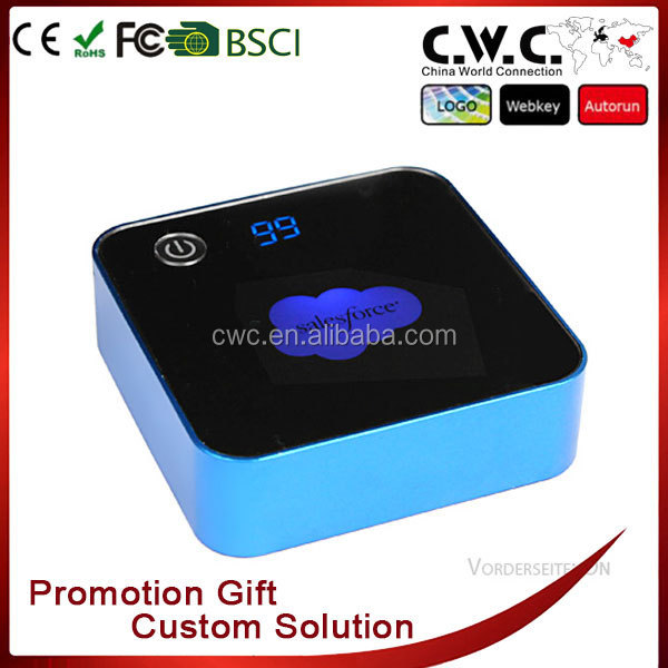 Real capacity 7800mAh rechargeable Cubic Power Bank with customized logo